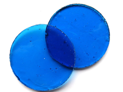 Large Turquoise Stained Glass Circles 40mm (Special Order Product)