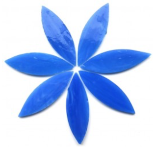 Large Blue Stained Glass Petals