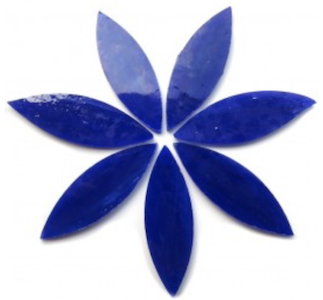 Large Dark Blue Stained Glass Petals