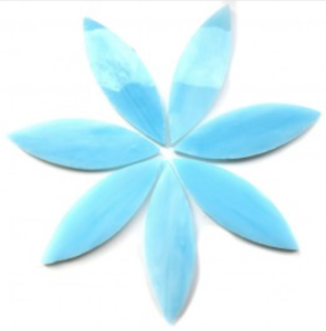 Large Ice Blue Stained Glass Petals