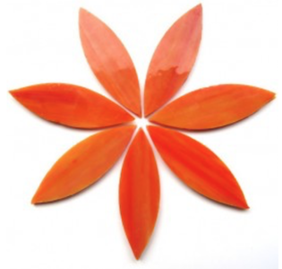 Large Orange Stained Glass Petals