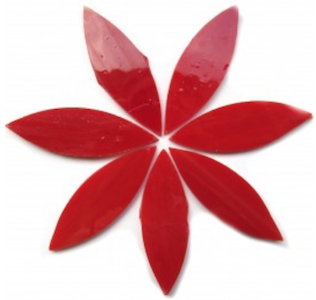 Large Red Stained Glass Petals