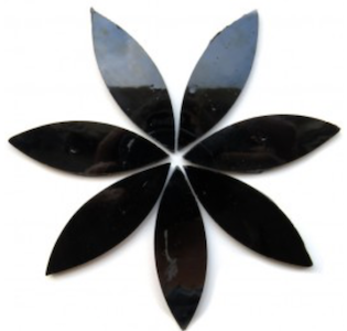 Large Black Stained Glass Petals