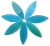 Large Blue Green Stained Glass Petals