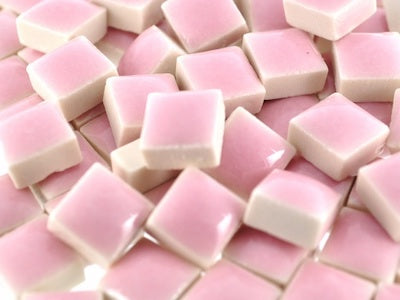 Pink Square Ceramic Tiles 1cm
