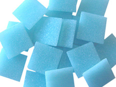 Light Blue 2cm Venetian Glass Mosaic Tiles