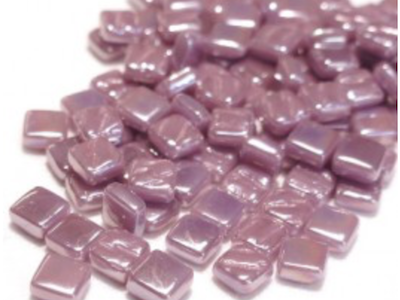 Iridised Lilac 8mm Glass Tiles