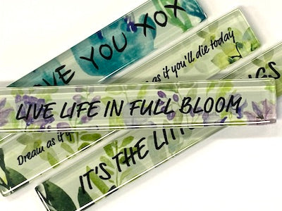 Live Life In Full Bloom (Floral) - Quote Strip (HM)