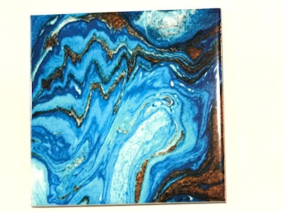 Marbled Series 10x10cm Ceramic Tiles - No. 9