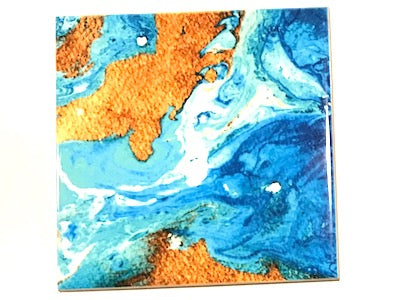 Marbled Series 10x10cm Ceramic Tiles - No. 11