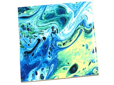 Marbled Series 10x10cm Ceramic Tiles - No. 4
