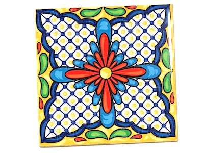 Mexican Inspired Ceramic 10x10cm - Pattern 1 (HM)