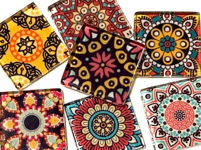 Mexican Inspired Glass Tiles 2.5cm - Mix 1