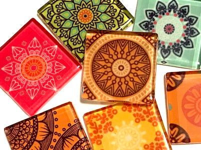 Mexican Inspired Glass Tiles 2.5cm - Mix 2