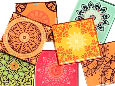 Mexican Inspired Glass Tiles 5cm - Mix 2