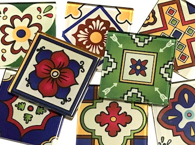Mexican Inspired Glass Tiles 5cm - Mix 3