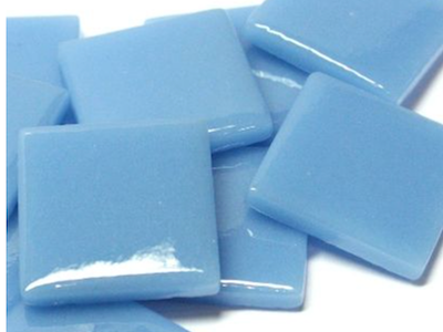Mid Turquoise Gloss Glass Tiles 2.5cm