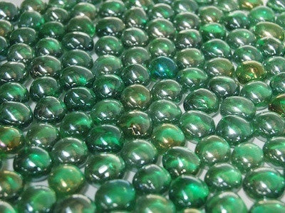 Mini Iridised Green Glass Mosaic Gems