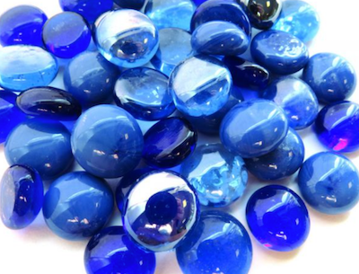 Mini Mixed Blue Glass Gems