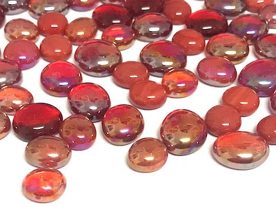 Mini Mixed Red Glass Gems