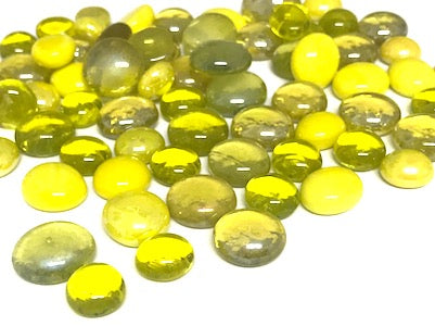 Mini Mixed Yellow Glass Gems