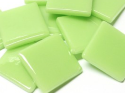 Mint Green Gloss Glass Tiles 2.5cm