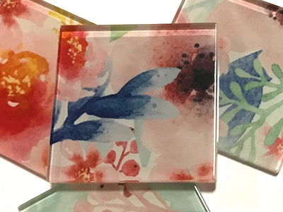 Flower Series 5cm Glass Tiles - Mix 2