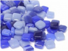 Mixed Blue 8mm Glass Tiles