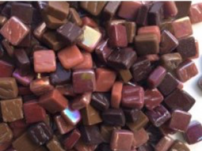 Mixed Brown 8mm Glass Tiles