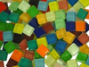 Mixed Crystal Glass Mosaic Tiles 1cm