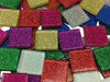 Mixed Glitter Glass Mosaic Tiles 2cm