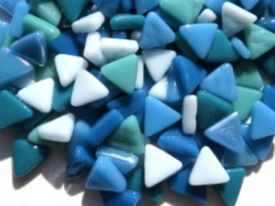 Mixed Ocean Glass Triangles