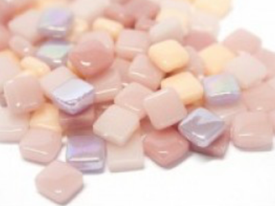Mixed Pink 8mm Glass Tiles