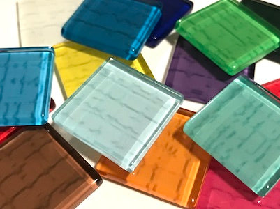 Mixed Textured Glass Tiles 2.5cm