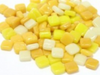 Mixed Yellow 8mm Glass Tiles (G846)