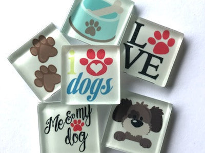 'Dog' Themed Glass Tiles