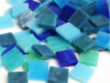 Ocean Blue Stained Glass Squares