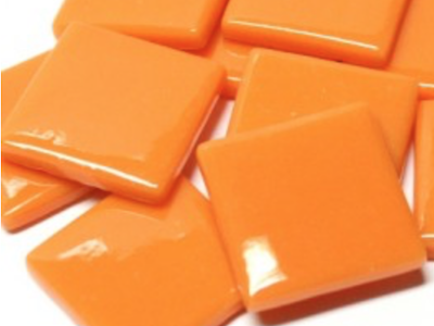 Orange Gloss Glass Tiles 2.5cm