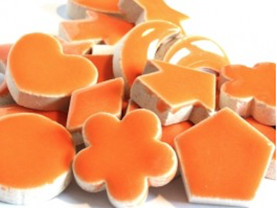 Orange Ceramic Charms