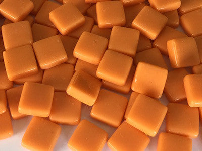 Orange Gloss Glass Tiles 1cm