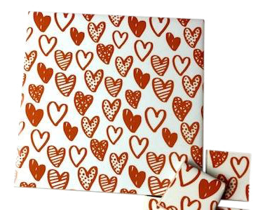 Orange Hearts Ceramic Tiles 10x10cm