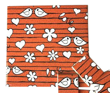 Orange Birds Ceramic Tiles 10x10cm