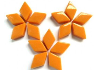 Orange Mini Glass Diamonds