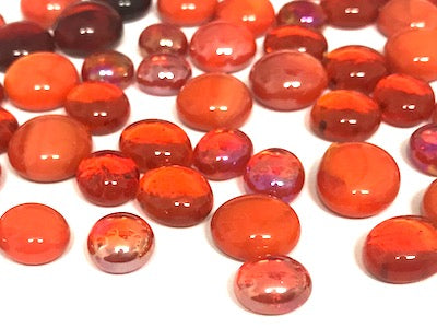 Mini Mixed Orange Glass Gems
