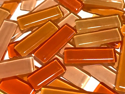 Orange Mixed Glass Rectangles
