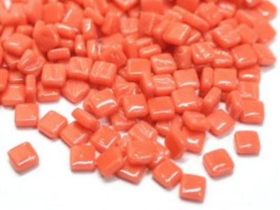 Orange Red 8mm Glass Tiles