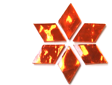 Orange Regalia Mirror Diamonds