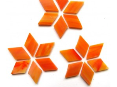 Orange Stained Glass Diamonds
