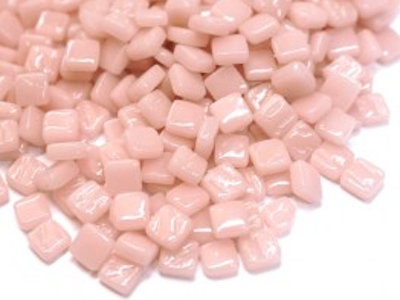 Pale Pink 8mm Glass Tiles