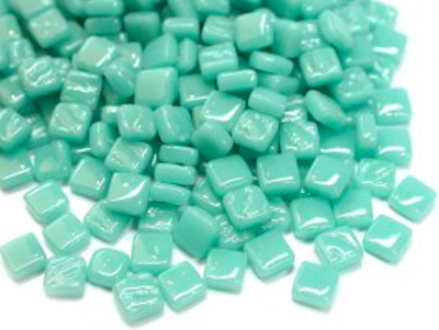 Pale Teal 8mm Glass Tiles